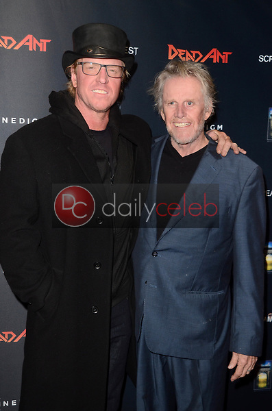 """Jake Busey, Gary Busey<br /> at the """"Dead Ant"""" Premiere, TCL Chinese Theater, Hollywood, CA 01-22-19<br /> David Edwards/DailyCeleb.com 818-249-4998"""