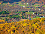 Shenandoah National Park, VA: Autumn colors in the Shenadoah Valley from Shenandoah Valley Overlook on Skyline Drive