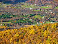 Shenandoah National Park, VA: Autumn colors in the Shenadoah Valley from Shenandoah Valley Overlook on Skyline Drive