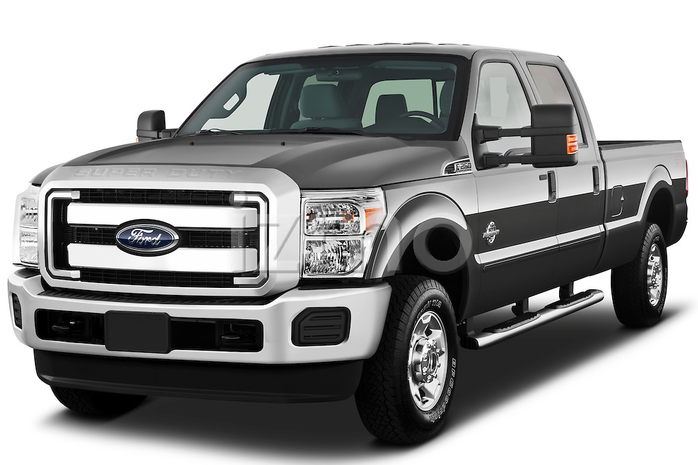 Front three quarter view of a 2011 Ford F-250 Crew Cab 4x4.