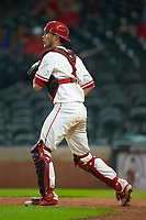 Houston Cougars catcher Tucker Redden (3) on defense against the Kentucky Wildcats in game two of the 2018 Shriners Hospitals for Children College Classic at Minute Maid Park on March 2, 2018 in Houston, Texas.  The Wildcats defeated the Cougars 14-2 in 7 innings.   (Brian Westerholt/Four Seam Images)