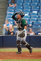 Daytona Tortugas catcher Chad Tromp (4) during a game against the Tampa Yankees on August 5, 2016 at George M. Steinbrenner Field in Tampa, Florida.  Tampa defeated Daytona 7-1.  (Mike Janes/Four Seam Images)