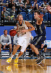BROOKINGS, SD - NOVEMBER 3:  Reed Tellinghuisen #23 from South Dakota State looks to get a step past Brian Orr #21 from SD School of Mines in the first half of their exhibition game Thursday evening at Frost Arena in Brookings. (Photo by Dave Eggen/Inertia)