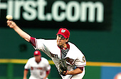 Washington, D.C. - June 16, 2006 -- Washington Nationals starting pitcher Shawn Hill (41) releases a pitch in game action against the New York Yankees at RFK Stadium in Washington, D.C. on June 16, 2006..Credit: Ron Sachs / CNP