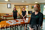Bernadette Martin, Mag Dowling and Katie McCabe Staff member at Buds community centre Ballyduff who are supplying facemasks to nursing homes.