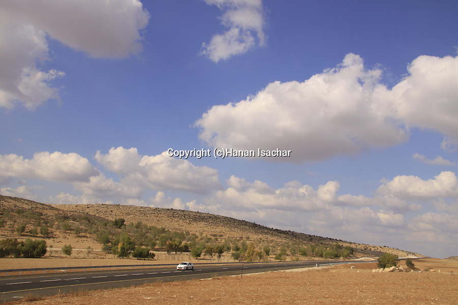 Israel, Shephelah, a view of Road 358 from Tel Givat Mirsham
