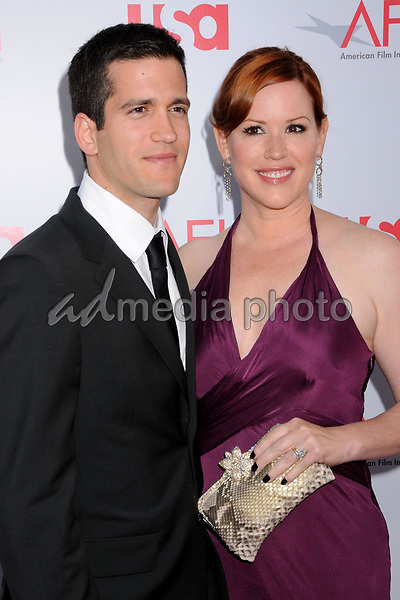 12 June 2008 - Hollywood, California - Molly Ringwald and husband Panio Gianopoulos. 36th Annual AFI Life Achievement Award at the Kodak Theatre. Photo Credit: Byron Purvis/AdMedia