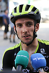 Simon Yates (GBR) Mitchelton-Scott being interviewed after crossing the finish line at the end of Stage 4 of the La Vuelta 2018, running 162km from Velez-Malaga to Alfacar, Sierra de la Alfaguara, Andalucia, Spain. 28th August 2018.<br /> Picture: Colin Flockton | Cyclefile<br /> <br /> <br /> All photos usage must carry mandatory copyright credit (&copy; Cyclefile | Colin Flockton)