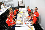 Roland Garros. Paris, France. June 1st 2012.A day with the ball boys..Ball boys at lunch