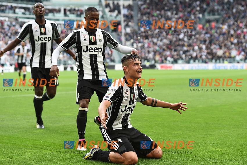 Paulo Dybala goal celebration <br /> Torino 14-05-2016 Stadio Olimpico Football Calcio Serie A 2015/2016 Juventus-Sampdoria. Foto Matteo Gribaudi / Image Sport / Insidefoto