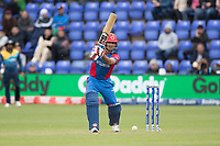 Najbullah Zadran (Afghanistan) drives through the covers during Afghanistan vs Sri Lanka, ICC World Cup Cricket at Sophia Gardens Cardiff on 4th June 2019