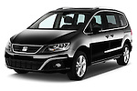 2016 Seat Alhambra Style Advance 5 Door Minivan Angular Front stock photos of front three quarter view