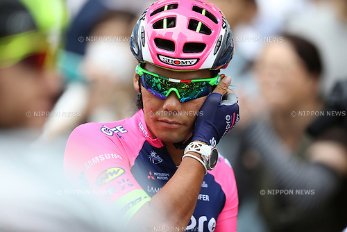 Yukiya Arashiro (Lampre-Merida), <br /> JUNE 5, 2016 - Cycling : <br /> the 8th stage  of Tour of Japan 2016 in Tokyo, Japan.  (Photo by AFLO SPORT)