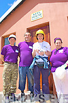 Working  on the Blitz last week were l-r; Jackie 'Tags' Tagney, Mike O'Shea, Eimear Murphy &  Michelle O'Shea, pictured here outside Keel House at the 'Masizakhele 3, Project' in Cape Town last week.  Eimear is part of the Blitz Staff and had been working for Niall Mellon for the past 14 years...