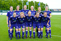 20180501 - TUBIZE , BELGIUM : Anderlecht's team with Sheryl Merchiers , Aline Zeler , Tine De Caigny , Ella Van Kerkhoven ,  Ines Fernandez Gonzalez , Heleen Jaques , Elke Van Gorp , Charlotte Tison , Sarah Wijnants , Laura Deloose and Lenie Onzia (r) pictured posing for the teampicture during a womensoccer game between  RSC Anderlecht Dames and KRC Genk Ladies , during play-off 1 , at the Euro 2000 Center in Tubize , tuesday 1 st May 2018 . PHOTO SPORTPIX.BE | DAVID CATRY