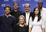 Actor Bradley Cooper, director David O. Russell, actors Jacki Weaver, Anupam Kher, Jennifer Lawrence and Chris Tucker  attending the The 2012 Toronto International Film Festival.Photo Call for 'Silver Linings Playbook' at the TIFF Bell Lightbox in Toronto on 9/9/2012