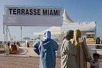 Afrique/Afrique du Nord/Maroc /Casablanca: la Corniche - terrase d'un bar de plage