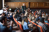 Occidental College's second TEDx event, Choi Auditorium, April 2, 2016. Featuring talks on sustainability and global development by speakers that included five students, a faculty member and seven external speakers.<br /> (Photo by Marc Campos, Occidental College Photographer)