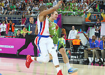06.09.2014. Barcelona, Spain. 2014 FIBA Basketball World Cup, round of 16. Picture show Z. Dragicin action during game between Dominican Republic  v Slovenia  at Palau St. Jordi