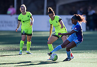 Seattle, WA - Saturday July 23, 2016: Kim Little, Carson Pickett, Jamia Fields during a regular season National Women's Soccer League (NWSL) match between the Seattle Reign FC and the Orlando Pride at Memorial Stadium.