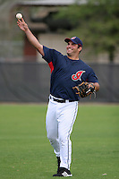 Cleveland Indians Ryan Garko during practice before a Grapefruit League Spring Training game at the Chain of Lakes Complex on March 16, 2007 in Winter Haven, Florida.  (Mike Janes/Four Seam Images)