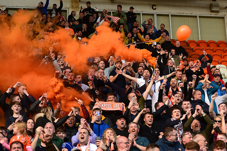 Blackpool fans  <br /> <br /> Photographer Richard Martin-Roberts/CameraSport<br /> <br /> The EFL Sky Bet League One - Blackpool v Southend United - Saturday 9th March 2019 - Bloomfield Road - Blackpool<br /> <br /> World Copyright © 2019 CameraSport. All rights reserved. 43 Linden Ave. Countesthorpe. Leicester. England. LE8 5PG - Tel: +44 (0) 116 277 4147 - admin@camerasport.com - www.camerasport.com