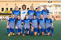 Boston, MA - Saturday April 29, 2017: Boston Breakers starting eleven during a regular season National Women's Soccer League (NWSL) match between the Boston Breakers and Seattle Reign FC at Jordan Field.