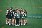 TAMPA, FL - MAY 20:  The Le Moyne Dolphins prepare to take on the Florida Southern Mocs during the Division II Women's Lacrosse Championship held at the Naimoli Family Athletic and Intramural Complex on the University of Tampa campus on May 20, 2018 in Tampa, Florida. Le Moyne defeated Florida Southern 16-11 for the national title. (Photo by Jamie Schwaberow/NCAA Photos via Getty Images)