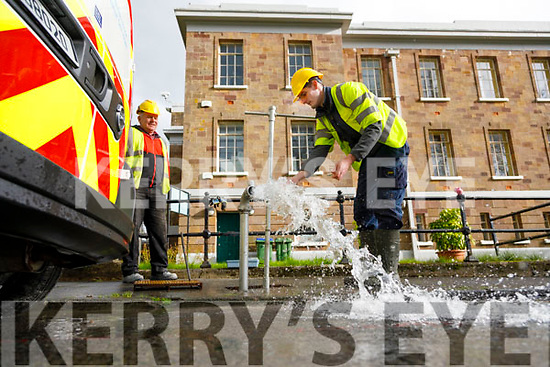 Kevin O'Leary and Sean Hegarty Kerry County Council workers   taking samples of water at Kerry County Museum