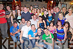 Rosita Harnett from Dromtrasna and Kevin Heffernan from Kilmorna, seated centre, enjoying their going away party before they move to Australia, pictured here with many family and friends last Saturday night in Matt McCoy's Bar, Abbeyfeale.