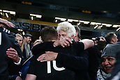 16th June 2017, Eden Park, Auckland, New Zealand; International Rugby Pasifika Challenge; New Zealand versus Samoa;  Beauden Barrett of New Zealand gets a hug from his grandmother after the match