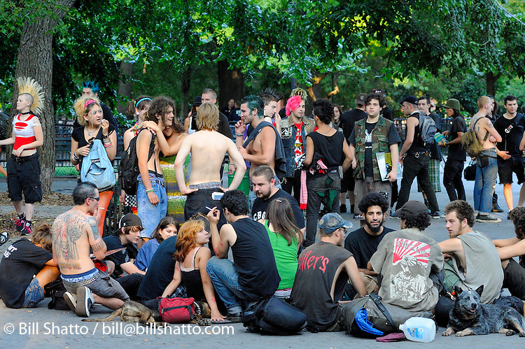Police Riot Concert, Tompkins Square Park, New York City, August/September, 2008.