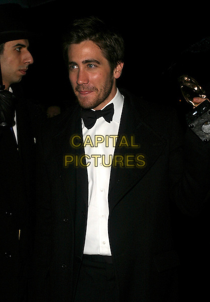 JAKE GYLLENHAAL.The Orange British Academy Film Awards aftershow & Grosvenor House Hotel, London, UK..February 19th, 2006.Ref: AH.half length black suit jacket tongue.www.capitalpictures.com.sales@capitalpictures.com.© Capital Pictures.