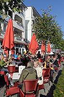 Hauptstraße im Ostseebad Binz auf Rügen, Mecklenburg-Vorpommern, Deutschland