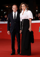 Il giornalista Alessandro Sallusti e la parlamentare Daniela Santanche' posano sul red carpet del Festival Internazionale del Film d Roma, 16 ottobre 2015.<br /> Italian journalist Alessandro Sallusti, left, and lawmaker Daniela Santanche' pose on the red carpet of the international Rome Film Festival at Rome's Auditorium, 16 October 2015.<br /> UPDATE IMAGES PRESS/Isabella Bonotto