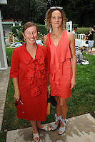 Christine Nichols, Flora Wiegmann==<br /> LAXART 5th Annual Garden Party Presented by Tory Burch==<br /> Private Residence, Beverly Hills, CA==<br /> August 3, 2014==<br /> ©LAXART==<br /> Photo: DAVID CROTTY/Laxart.com==