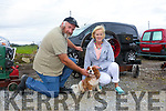Enjoying the  6th annual Mid Kerry Vintage Rally in Castlemaine were Michael Gaine and Janice Gaine with Teddy from Kenmare