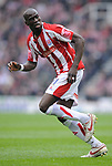 Mamady Sidibe of Stoke City during the Championship League match at The Britannia Stadium, Stoke. Picture date 4th May 2008. Picture credit should read: Simon Bellis/Sportimage