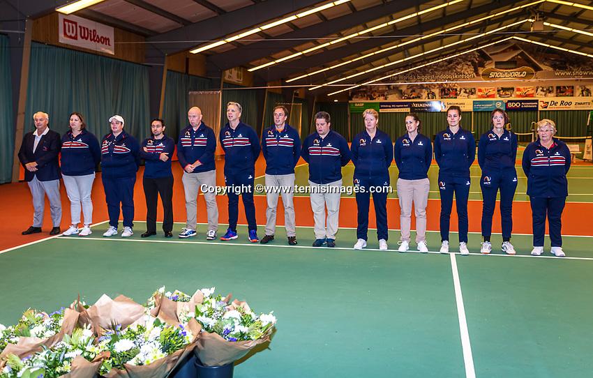 Wateringen, The Netherlands, December 15,  2019, De Rhijenhof , NOJK juniors doubles , Umpires and linespersons<br /> Photo: www.tennisimages.com/Henk Koster