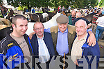 John Galvin Castlemaine, Padraig Sullivan Waterville, Danny O'Callaghan, Killorglin and Jerimah McCarthy Tousist Pictured at Kenmare fair day on Saturday.