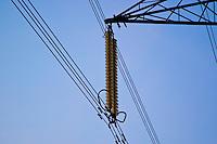 Electricity pylon insulators, England, United Kingdom