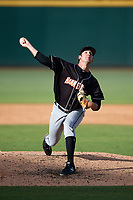Jupiter Hammerheads relief pitcher Chad Smith (25) delivers a pitch during the second game of a doubleheader against the Bradenton Marauders on May 27, 2018 at LECOM Park in Bradenton, Florida.  Jupiter defeated Bradenton 4-1.  (Mike Janes/Four Seam Images)