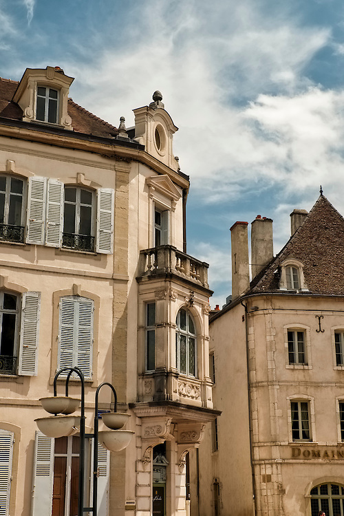 The rolling hills of Burgundy are punctuated with traditional French towns such as the wine capital of Beaune.