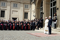 Roma,10 Giugno 2017<br /> Papa Francesco e Sergio Mattarella<br /> Papa Francesco in visita al Quirinale