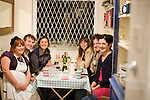 Ms Marmite Lover Underground Restaurant..Comedy themed night with comedians such as Josie Long and Chris Neill..pic shows: Ms Marmite Lover with comedians after the gig/supper - l to right Ms Marmite Lover .Tim Key.Josie Long..Claudia Odoherty.Maeve Higgins.Unknown.Picture by Gavin Rodgers/ Pixel 07917221968