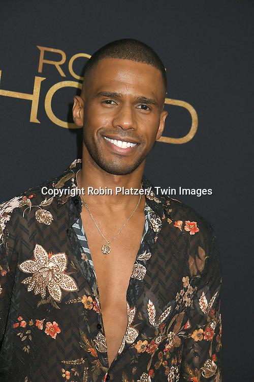 """Eric West attends the New York Special Screening of """"Robin Hood"""" on November 11, 2018 at AMC Lincoln Square in New York, New York, USA.<br /> <br /> photo by Robin Platzer/Twin Images<br />  <br /> phone number 212-935-0770"""