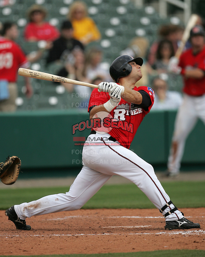 Frisco Rough Riders 1B Emerson Frostad during the 2007 AA Texas League Season. Photo by Andrew Woolley / Four Seam Images.