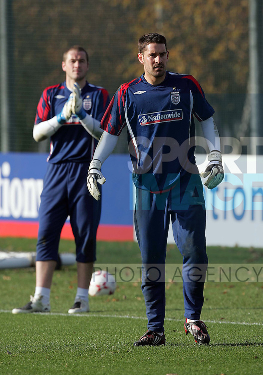 England's Scott Carson with Paul Robinson