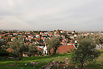 Samaria, a view of settlement Sha'arei Tikva founded in 1983.