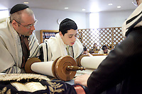 Montreal (Qc) CANADA -  2007 Model Released Photo -..A young jewis boy on his Bar Mitzvah day at the synagogue,...photo : Roussel - Images Distribution.